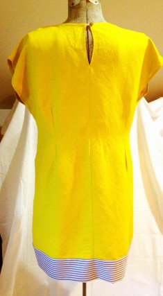 yellow dress finished back